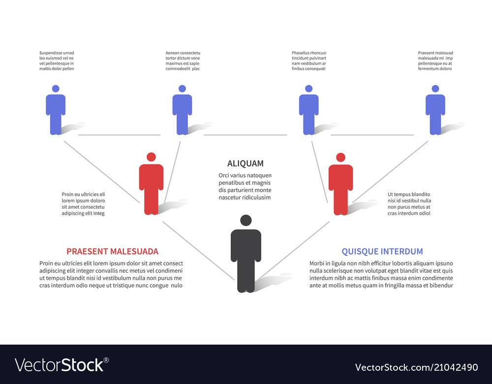Company hierarchy 3d chart business organization
