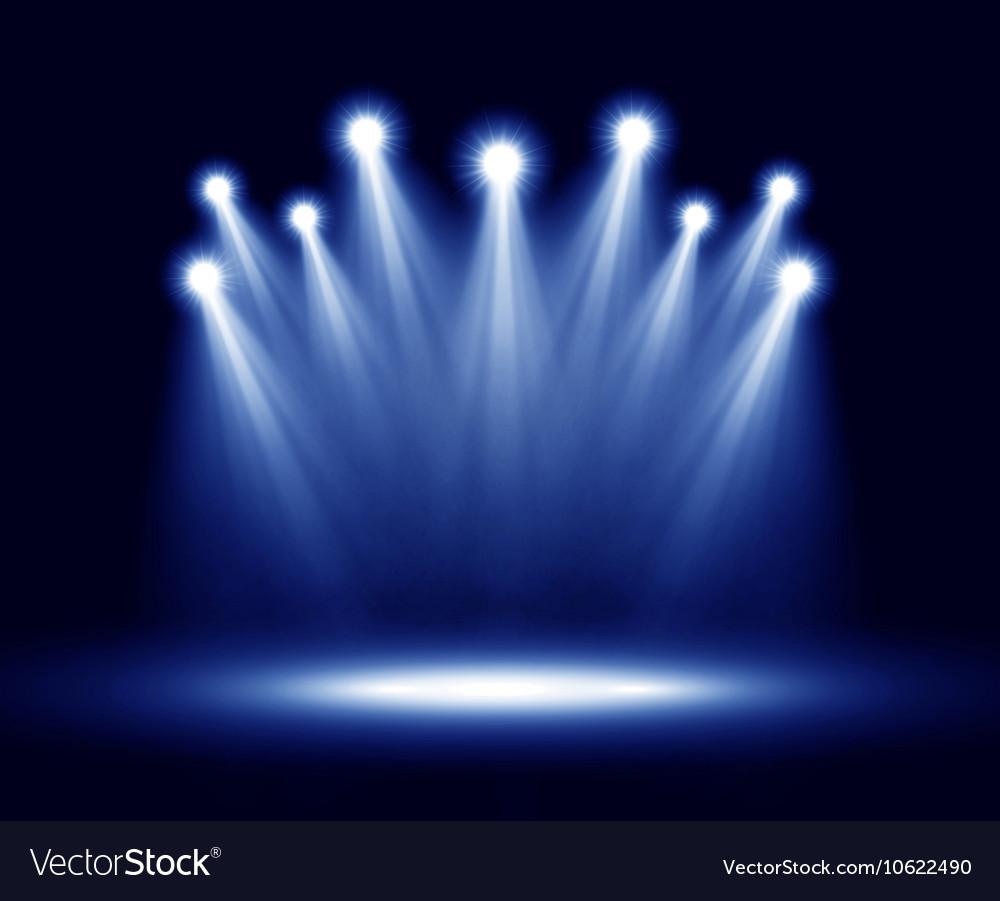 Group Of Realistic Spotlights Lighting