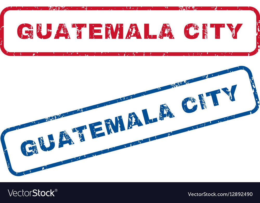 Guatemala City Rubber Stamps vector image