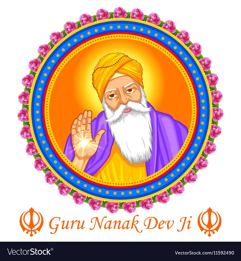 Happy Guru Nanak Jayanti festival of Sikh