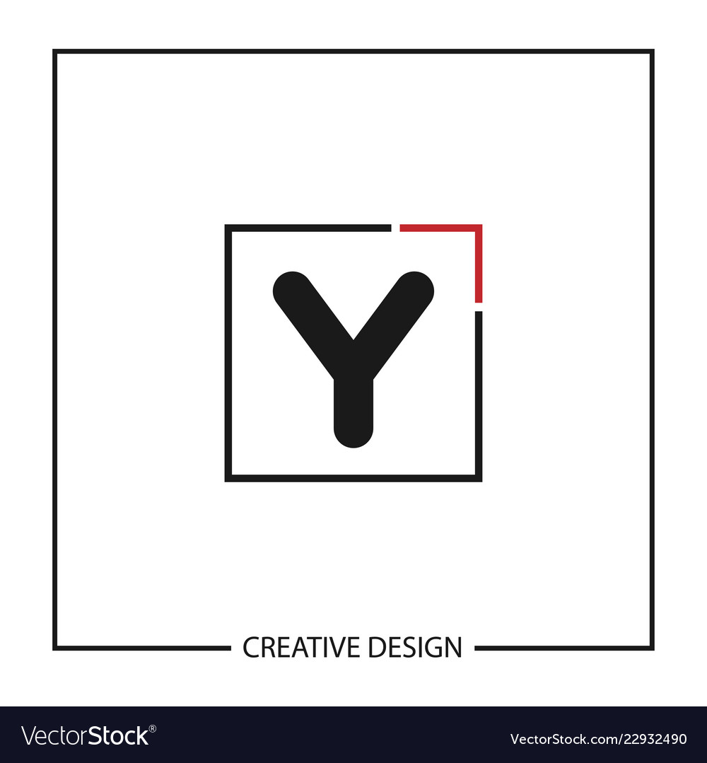 Initial Letter Y Logo Template Design Royalty Free Vector