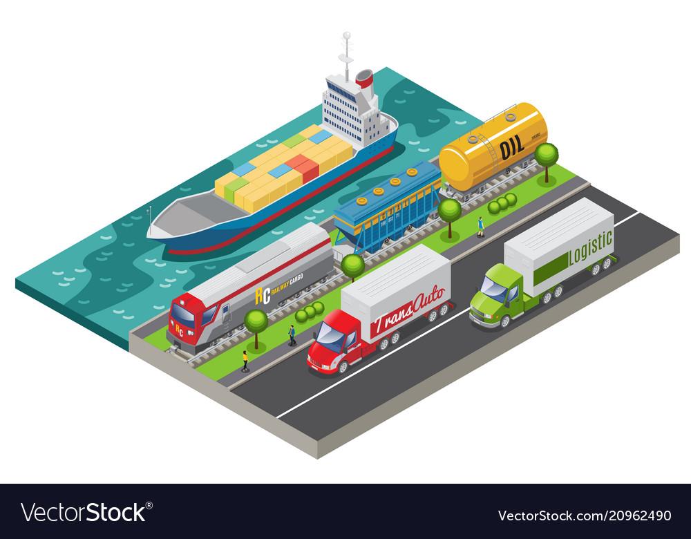 Isometric logistic transportation concept