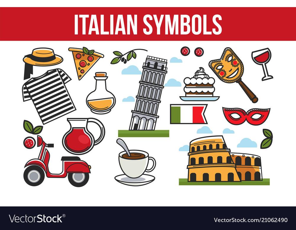 Italian national symbols promotional travel agency