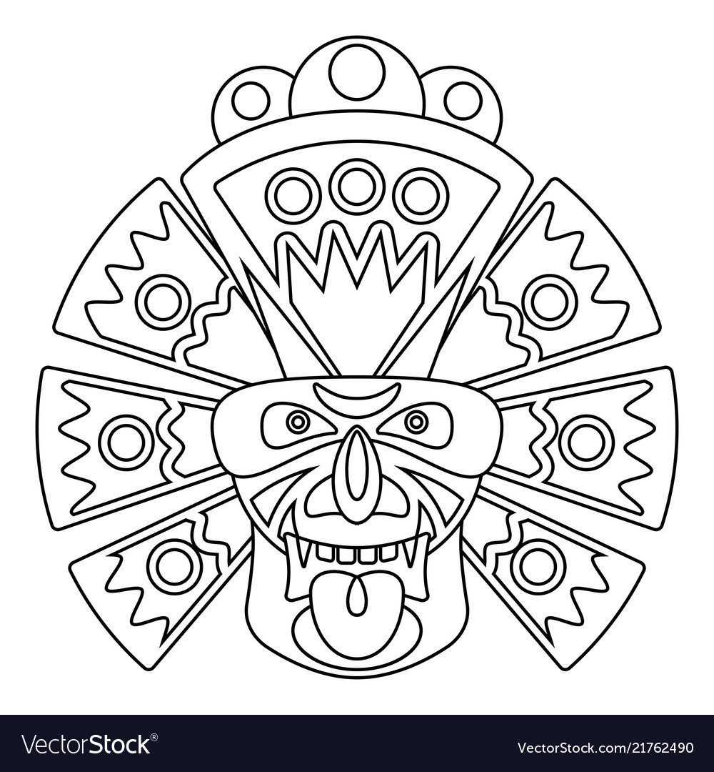 Line african mask