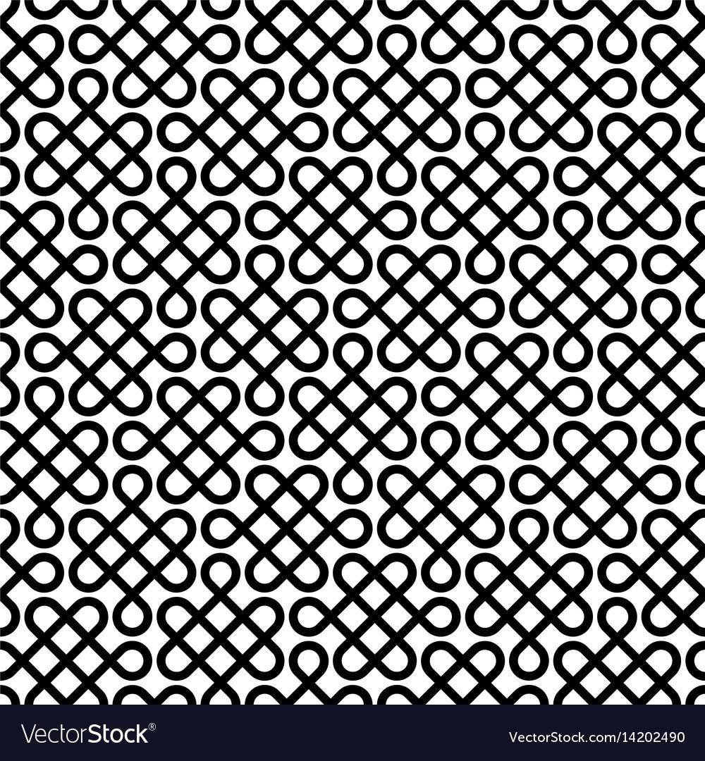 Monochrome celtic knotwork seamless pattern