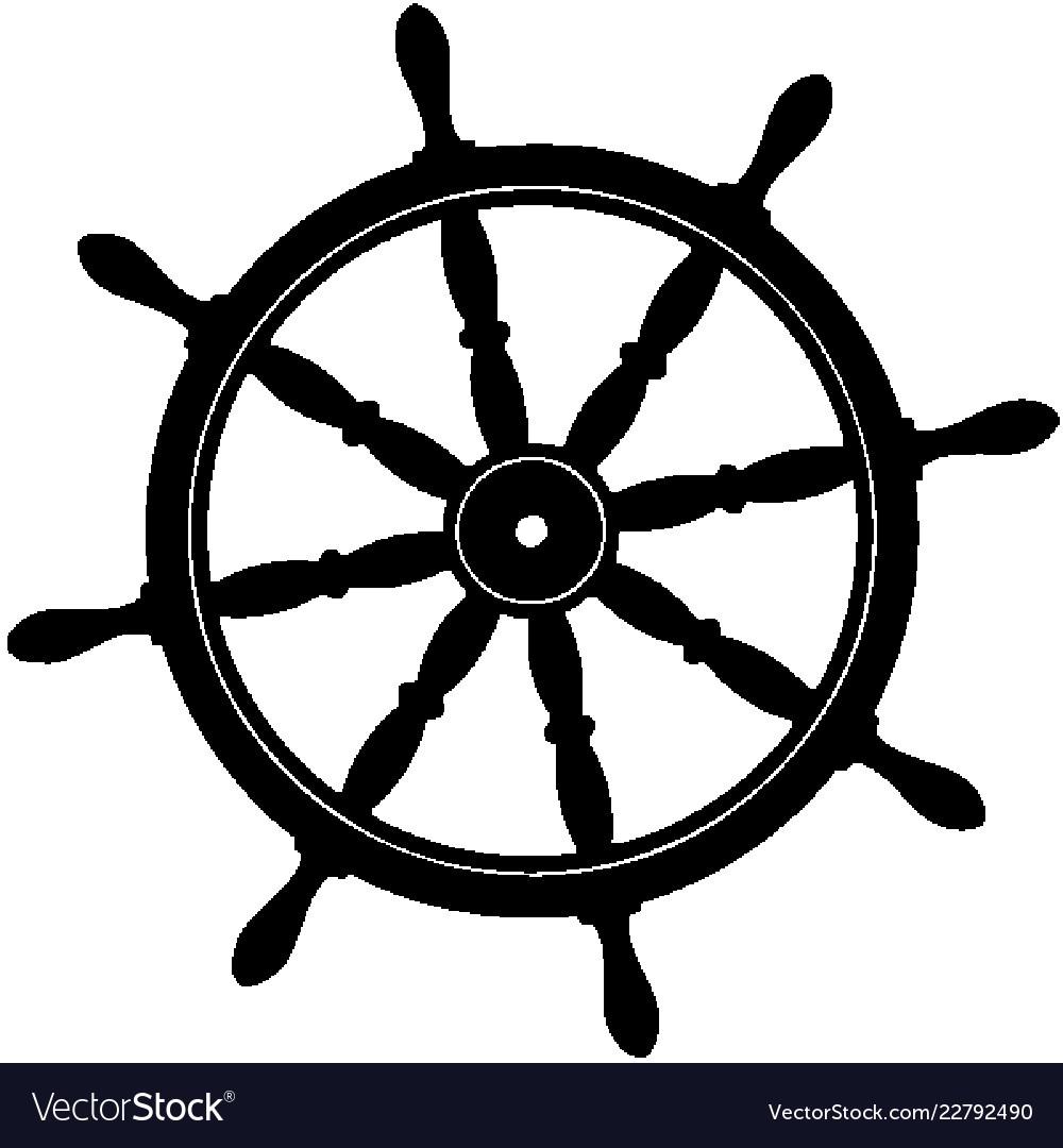 Pirate Ship Wheel Royalty Free Vector Image Vectorstock