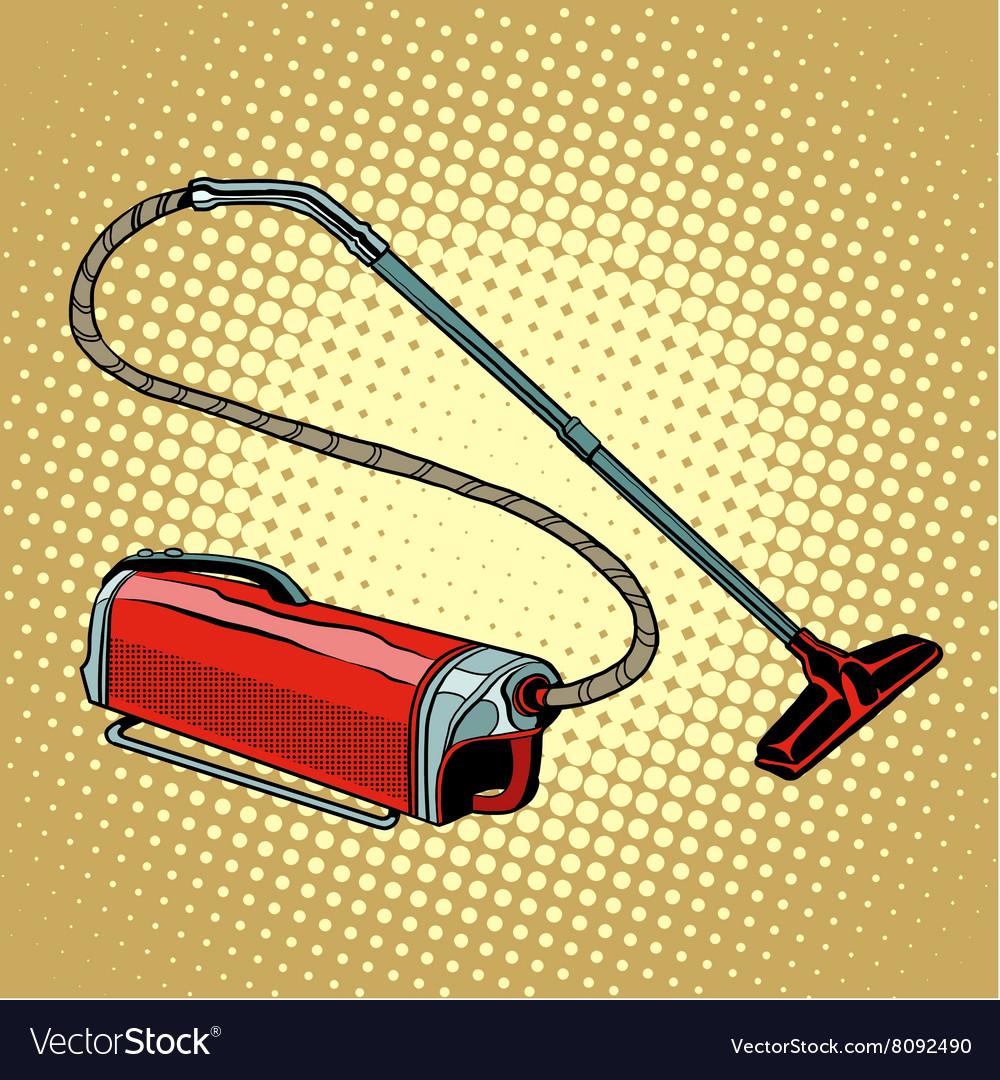 Retro vacuum cleaner home appliances vector image