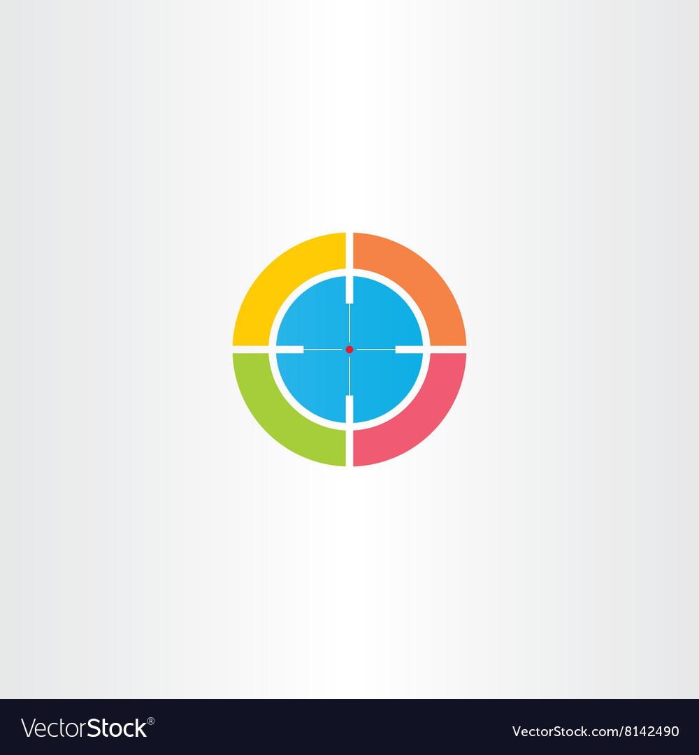Sniper target logo icon
