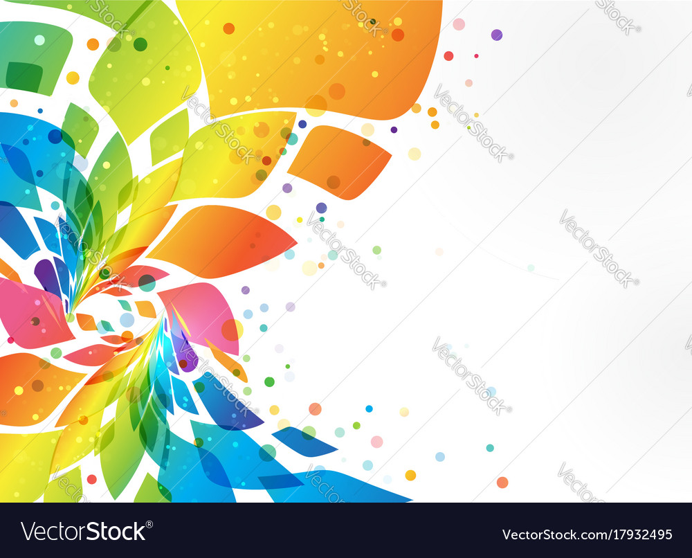 Abstract background colorful element on white vector image