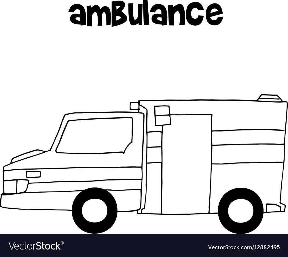 Ambulance of art vector image