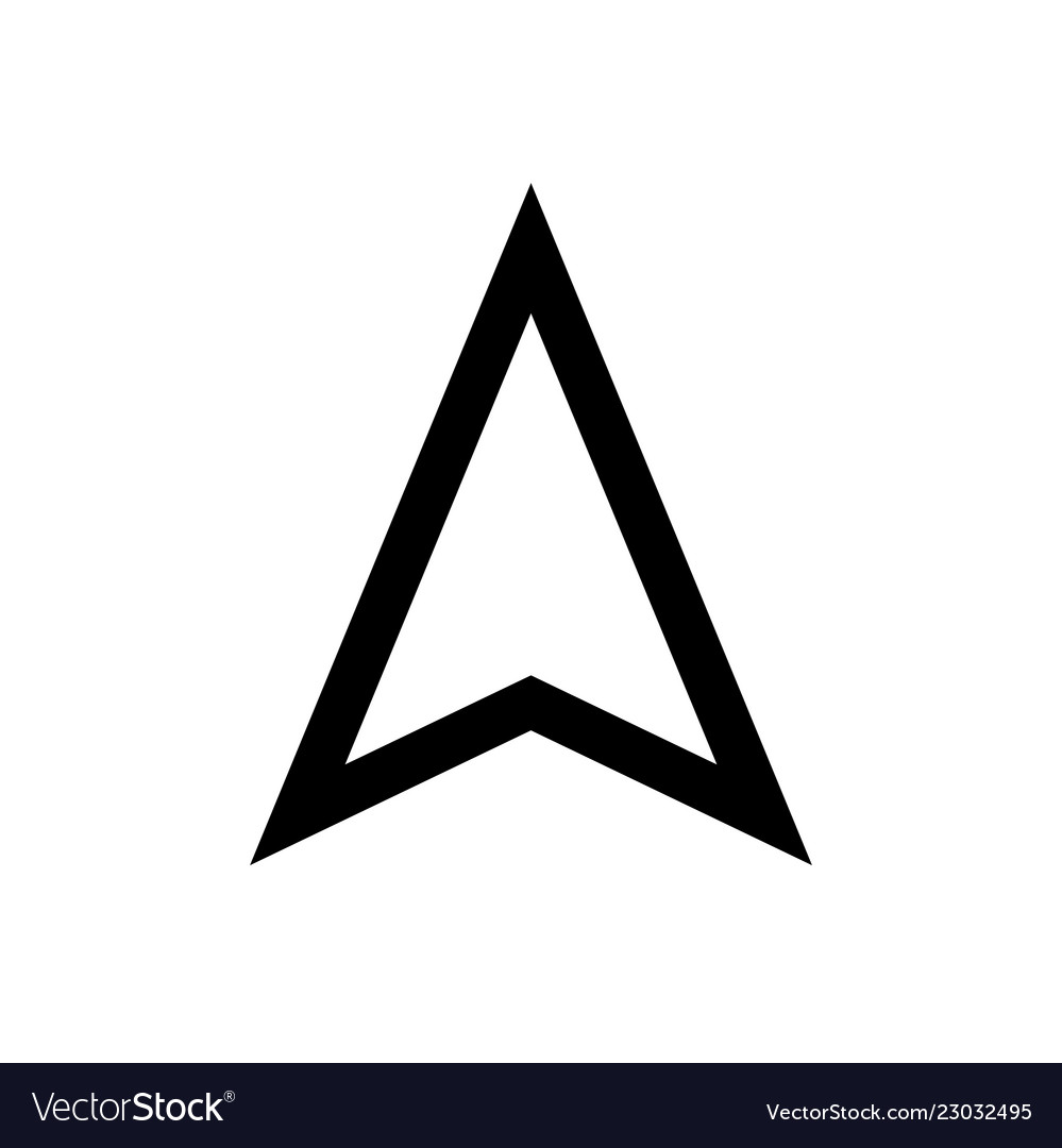 Arrow icon direction pointer symbols Royalty Free Vector on
