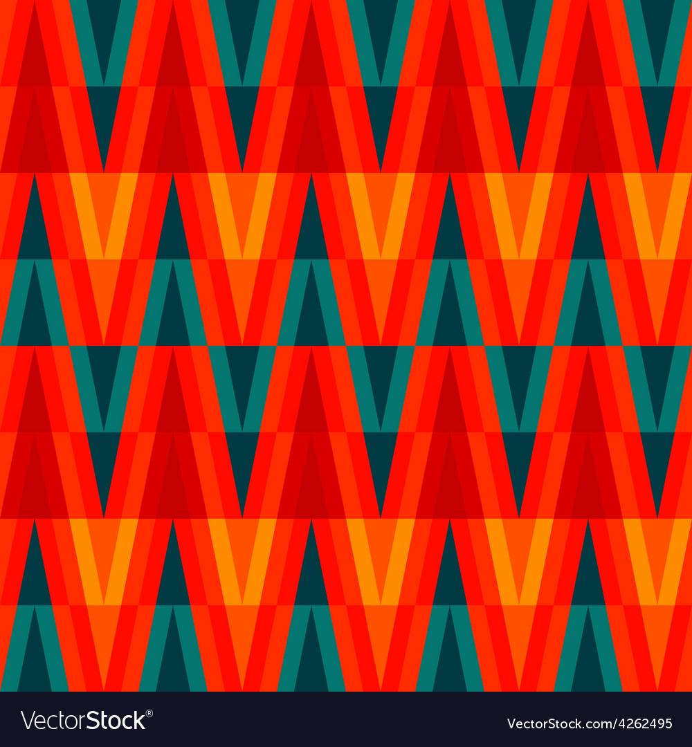 Aztec bright triangle seamless pattern