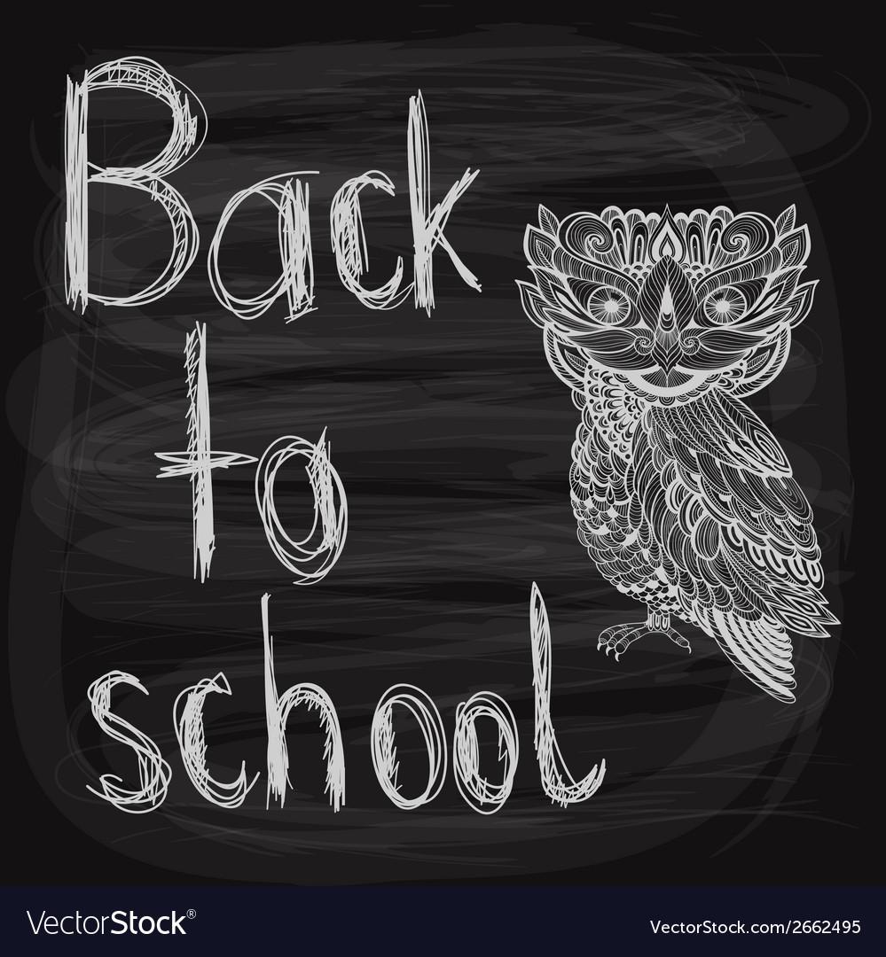 Back to school chalk drawn background