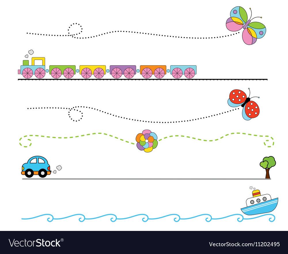Cartoon Dividers vector image