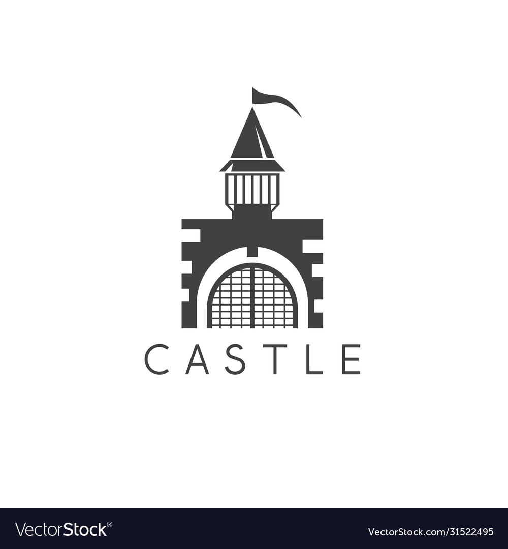 Castle or prison abstract simple design template