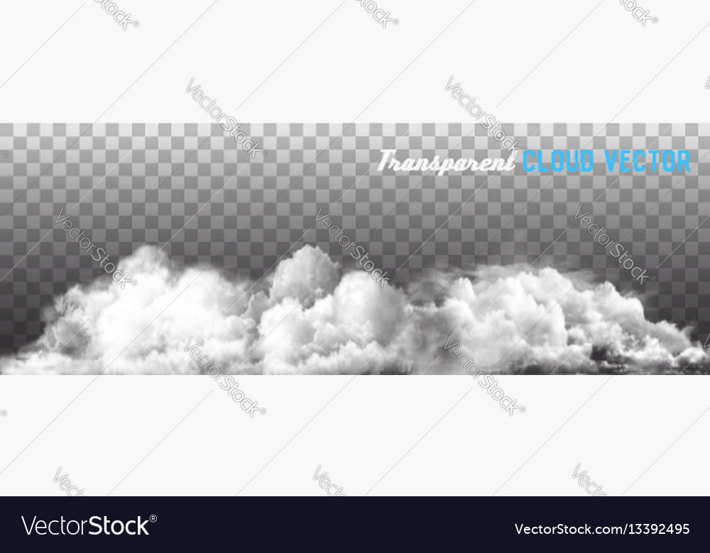 Clouds on transparent background