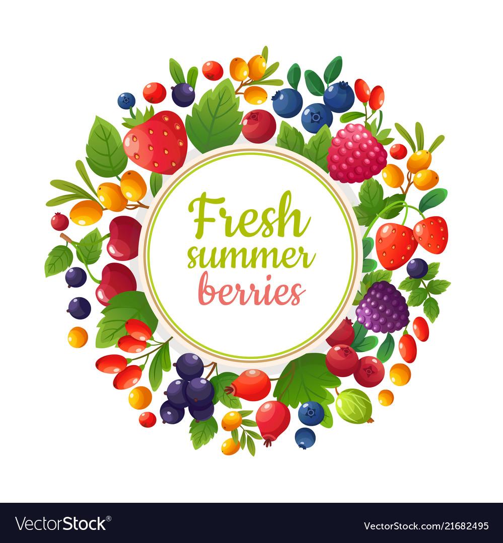 Fresh organic summer berries and fruits healthy