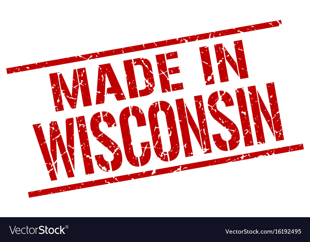 Made In Wisconsin Stamp Vector Image