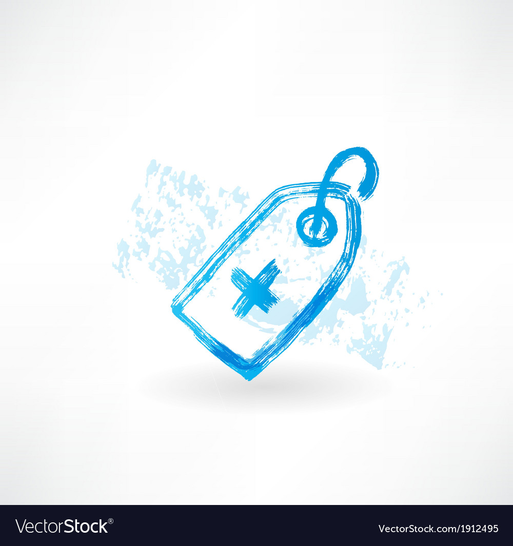 Medical grunge icon vector image