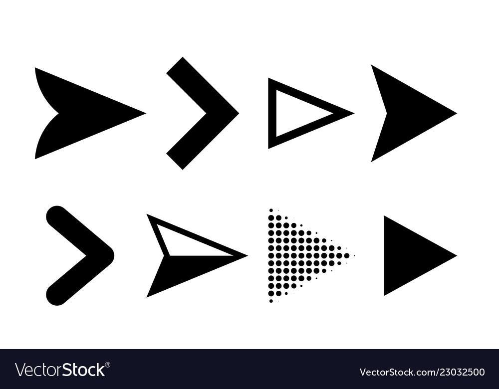 Arrow icons direction pointers symbols