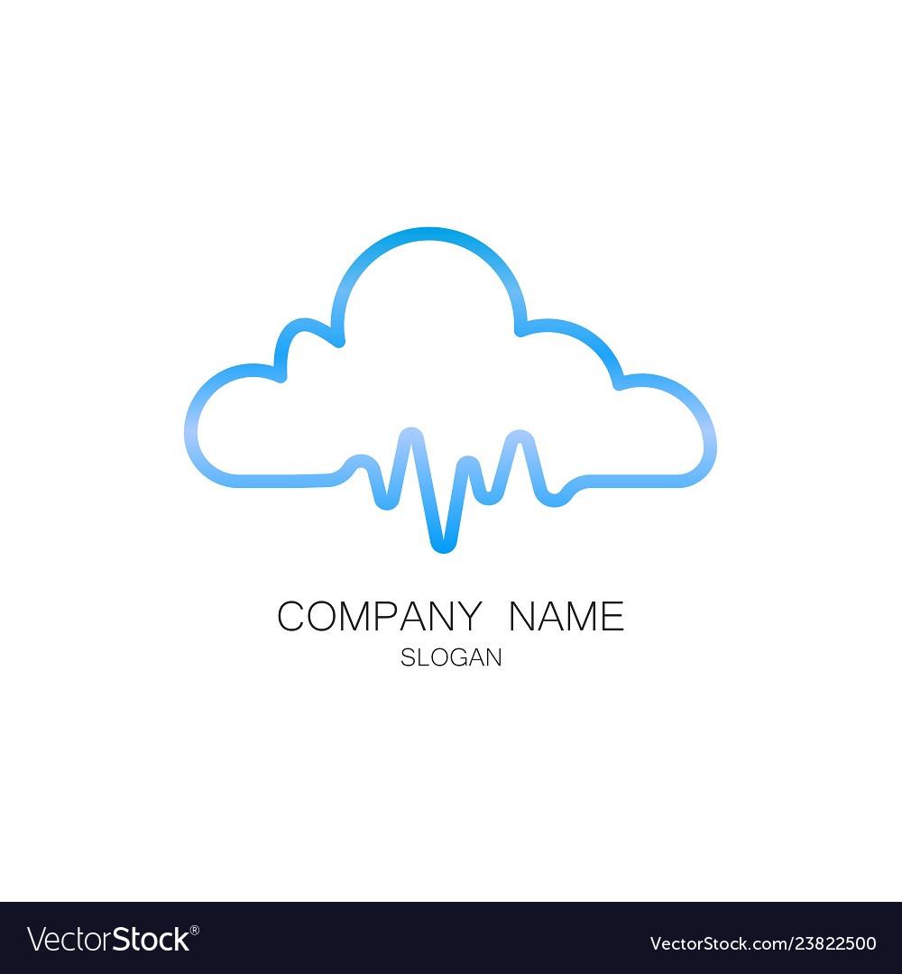 Cloud pulse logo