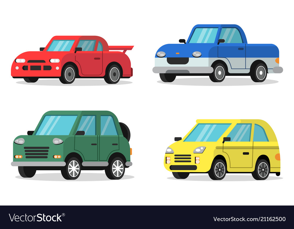 Flat cars in orthogonal