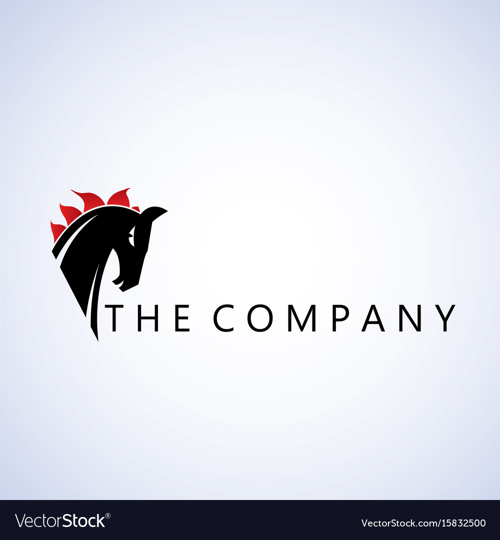 Horse Logo Ideas Design On Royalty Free Vector Image