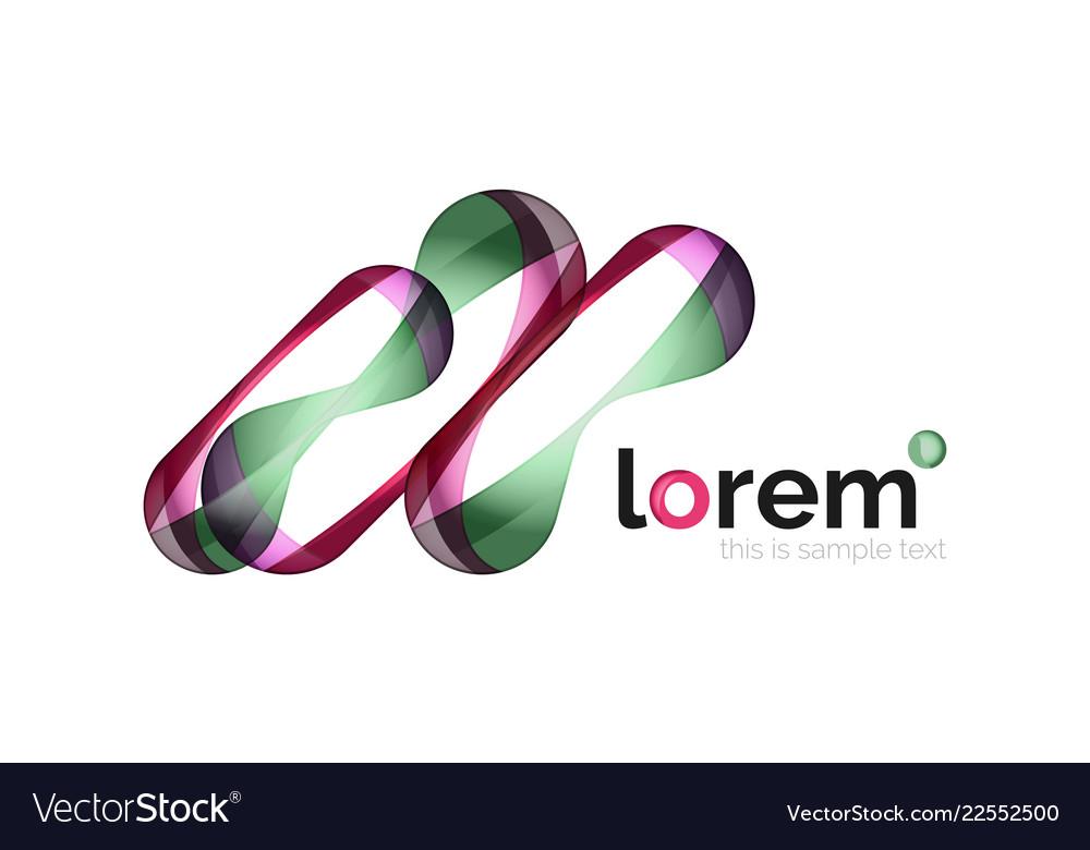Logo abstract geometric icon