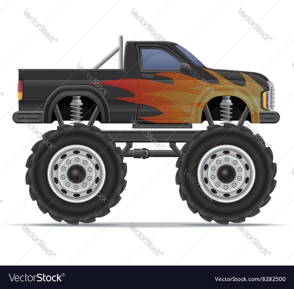 Monster truck 01 vector image
