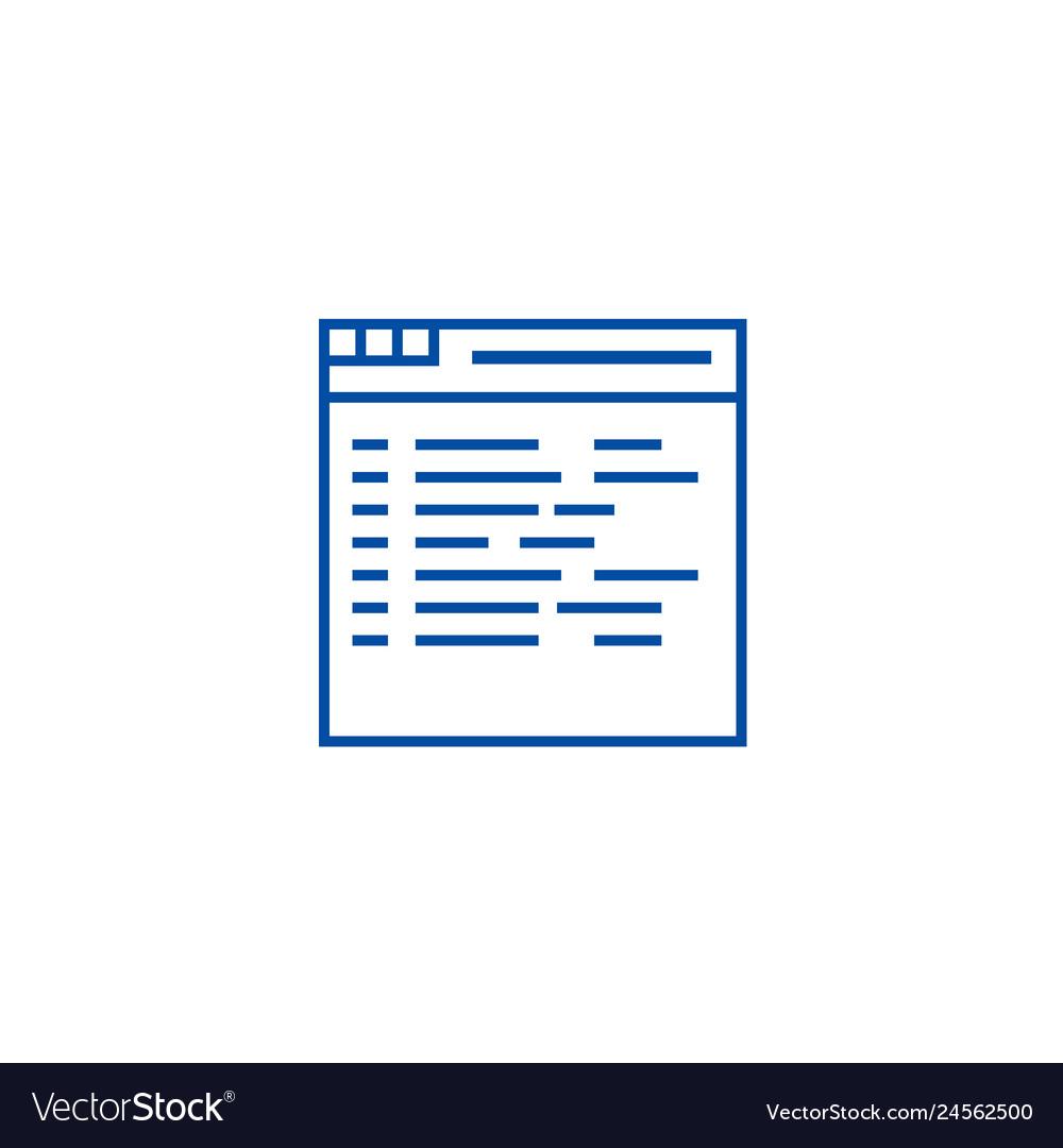 Programmingcoding line icon concept programming