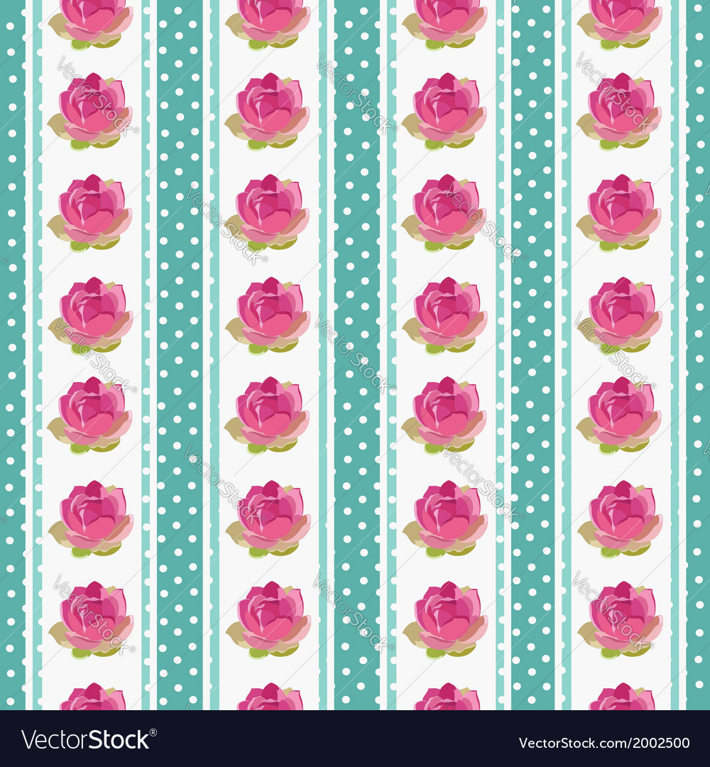 Seamless wallpaper pattern with flowers on blue