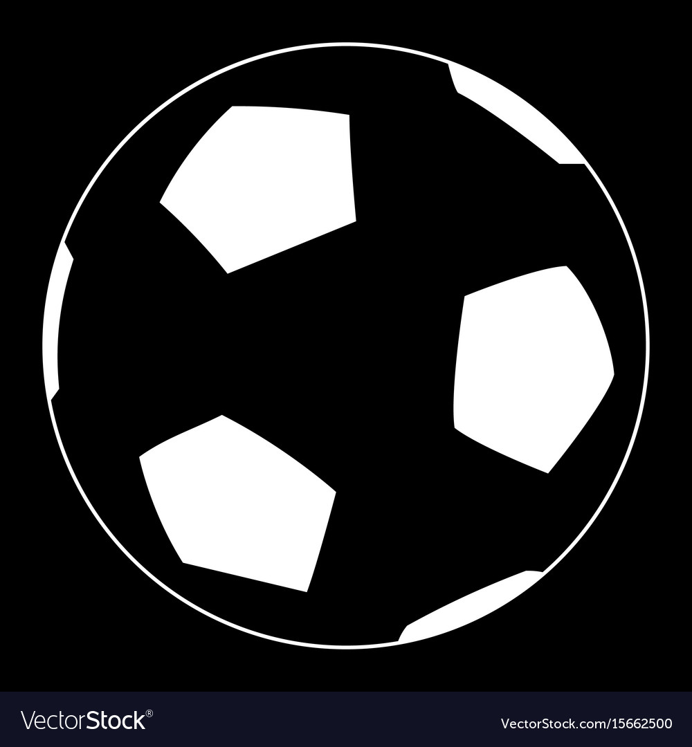Soccer ball the white color icon