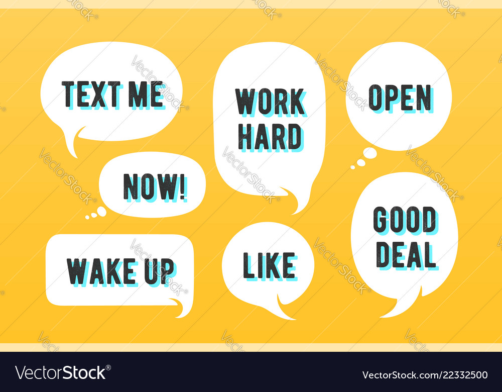 Speech bubbles set of message cloud talk