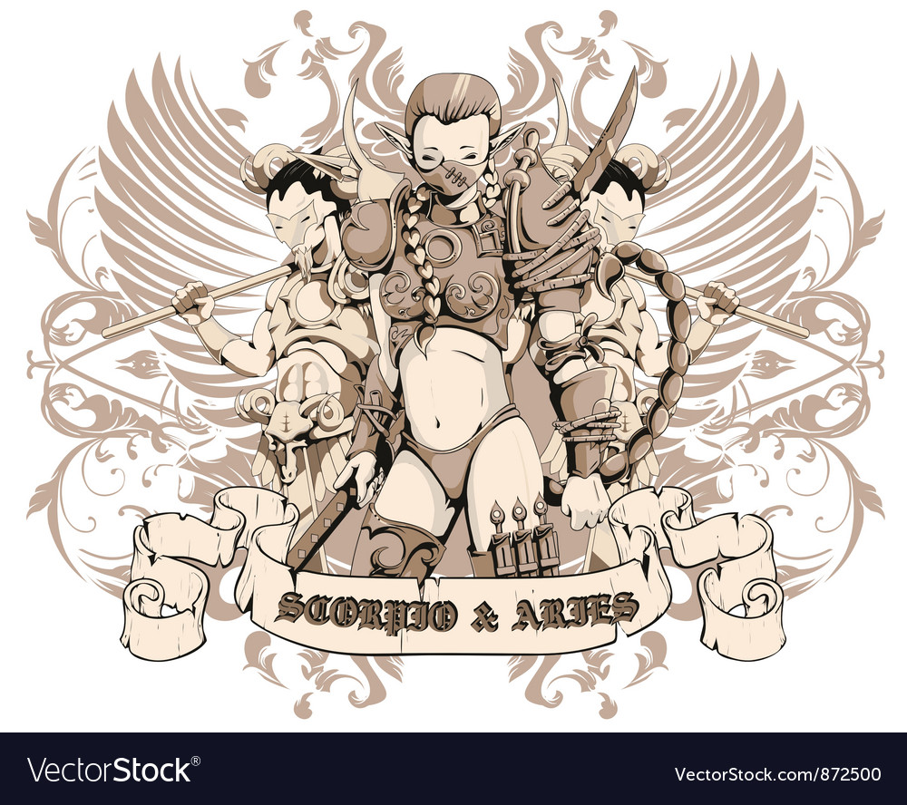 Warrior emblem vector image