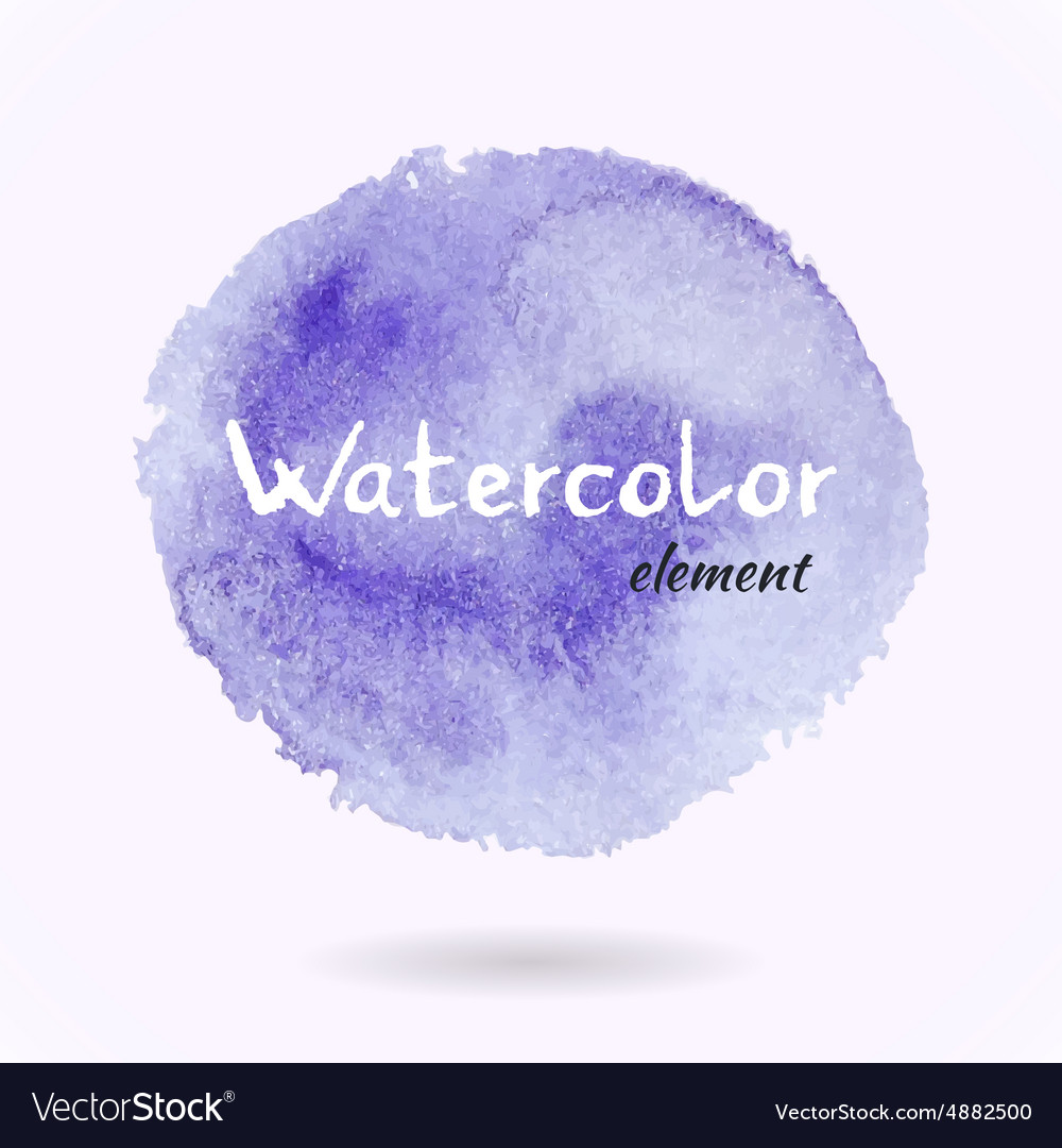 Watercolor Purple Element