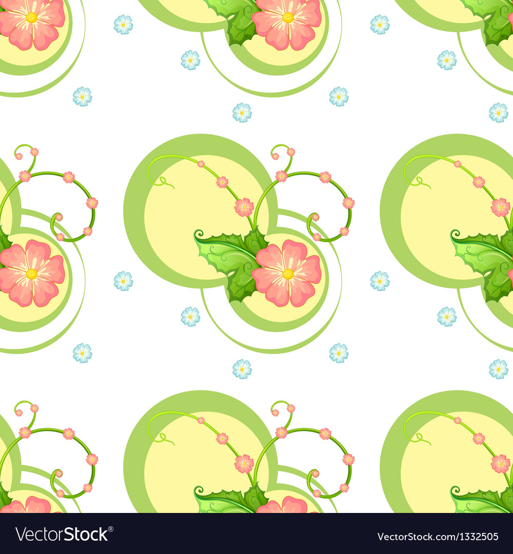 A flowery design