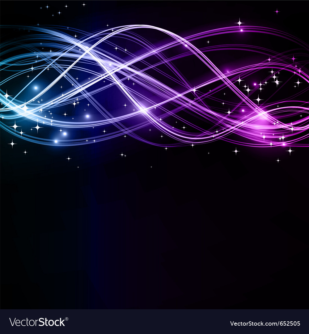 Abstract wavy patterns with stars vector image