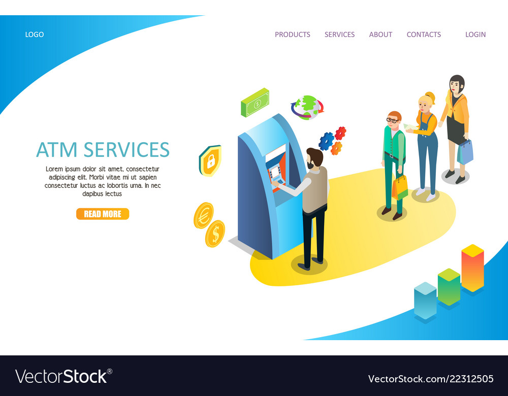 Atm services landing page website template