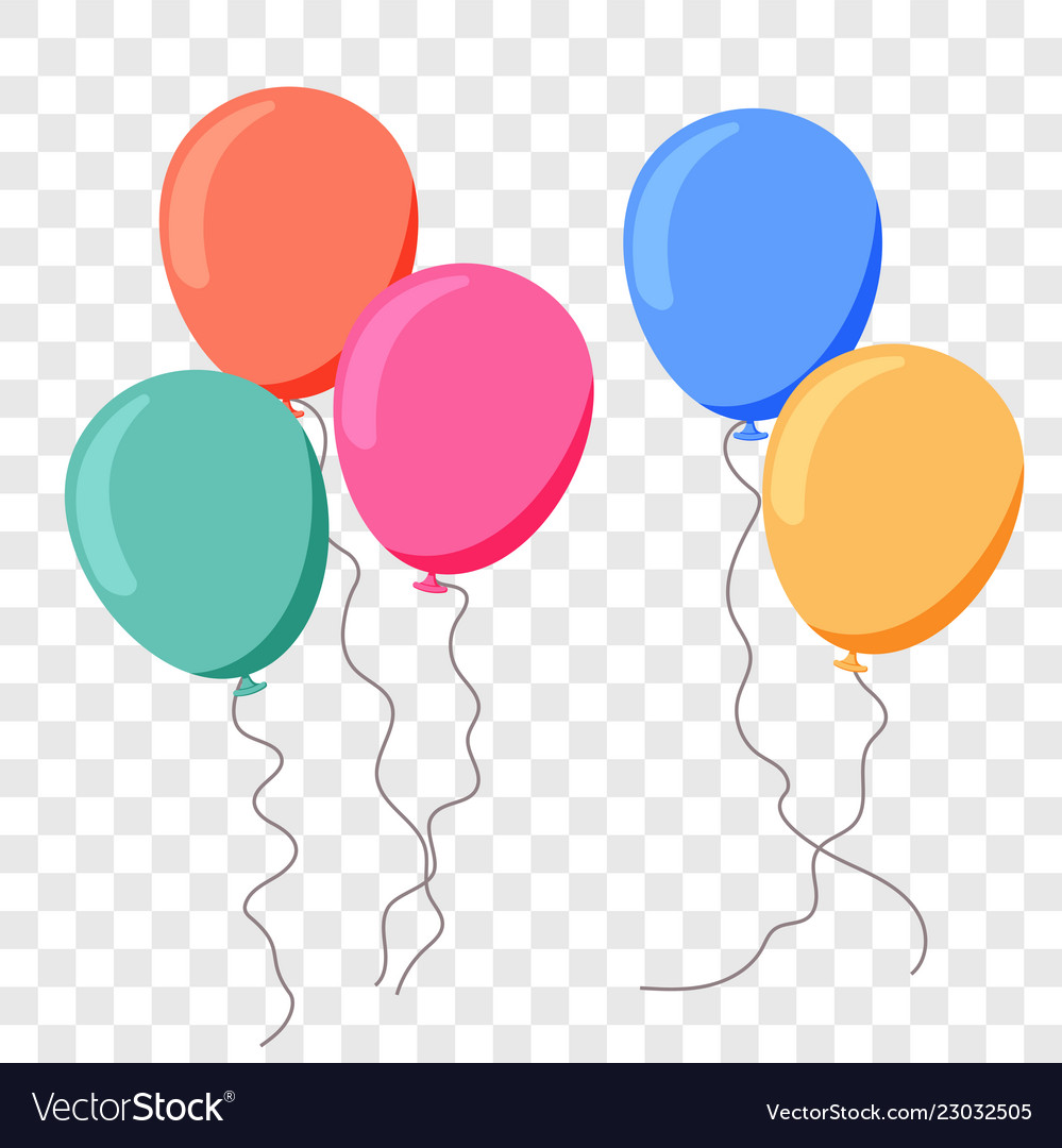 Balloon ballon flat cartoon birthday party