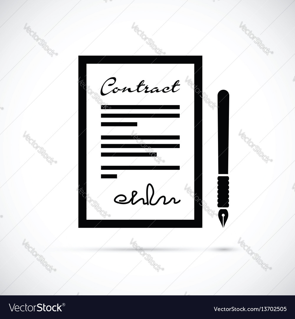 Contract and pen icon