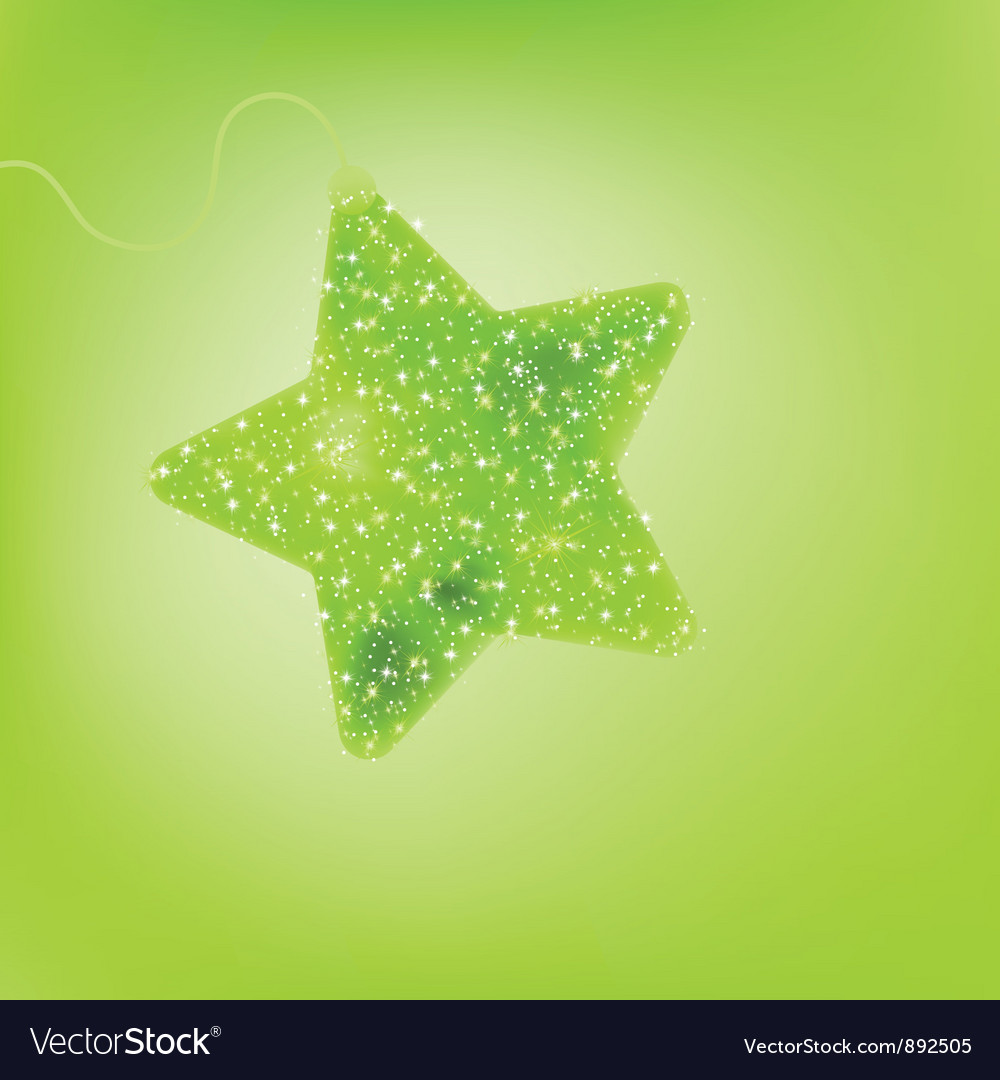 Cute star background vector image