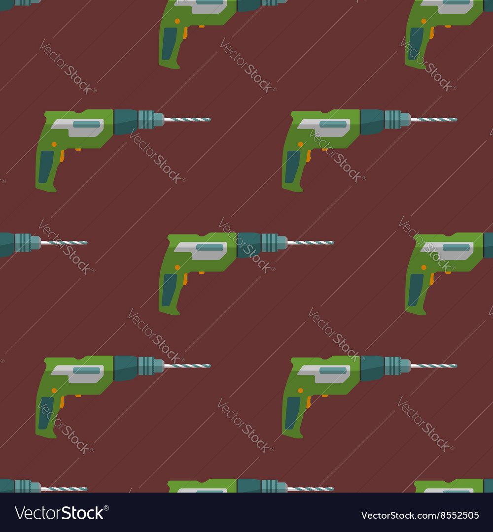 Electric drill seamless pattern