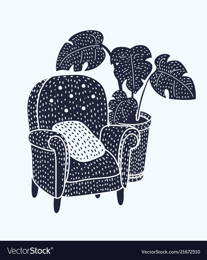 Black and white armchair