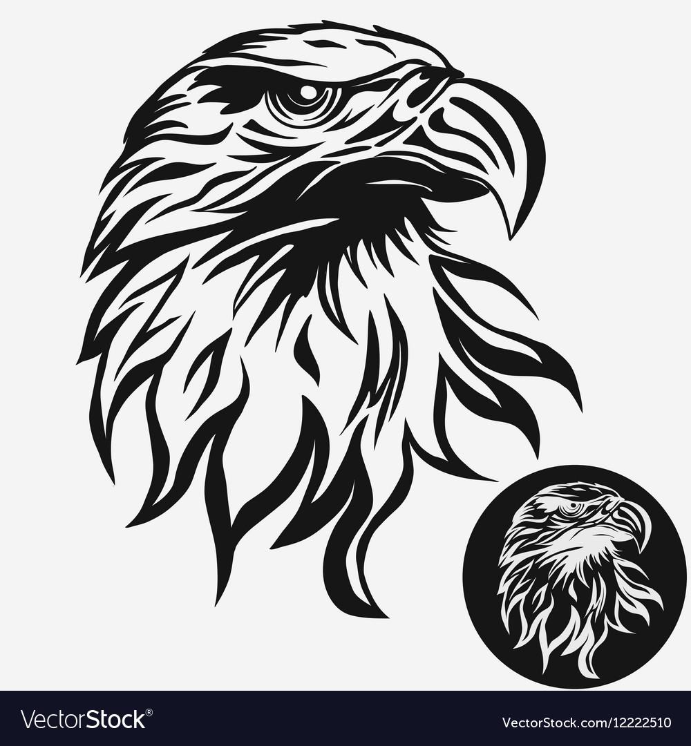 eagle head logo royalty free vector image vectorstock
