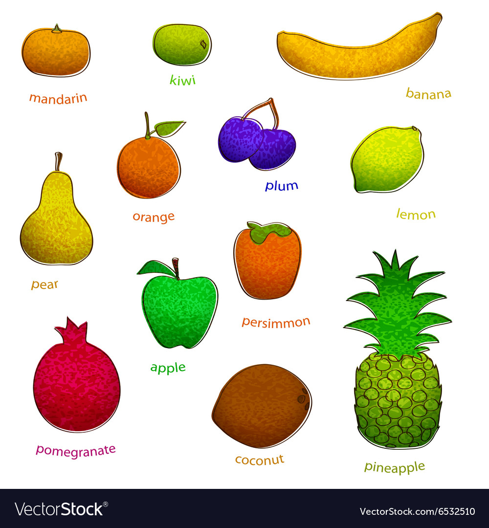 Fruit set with texture