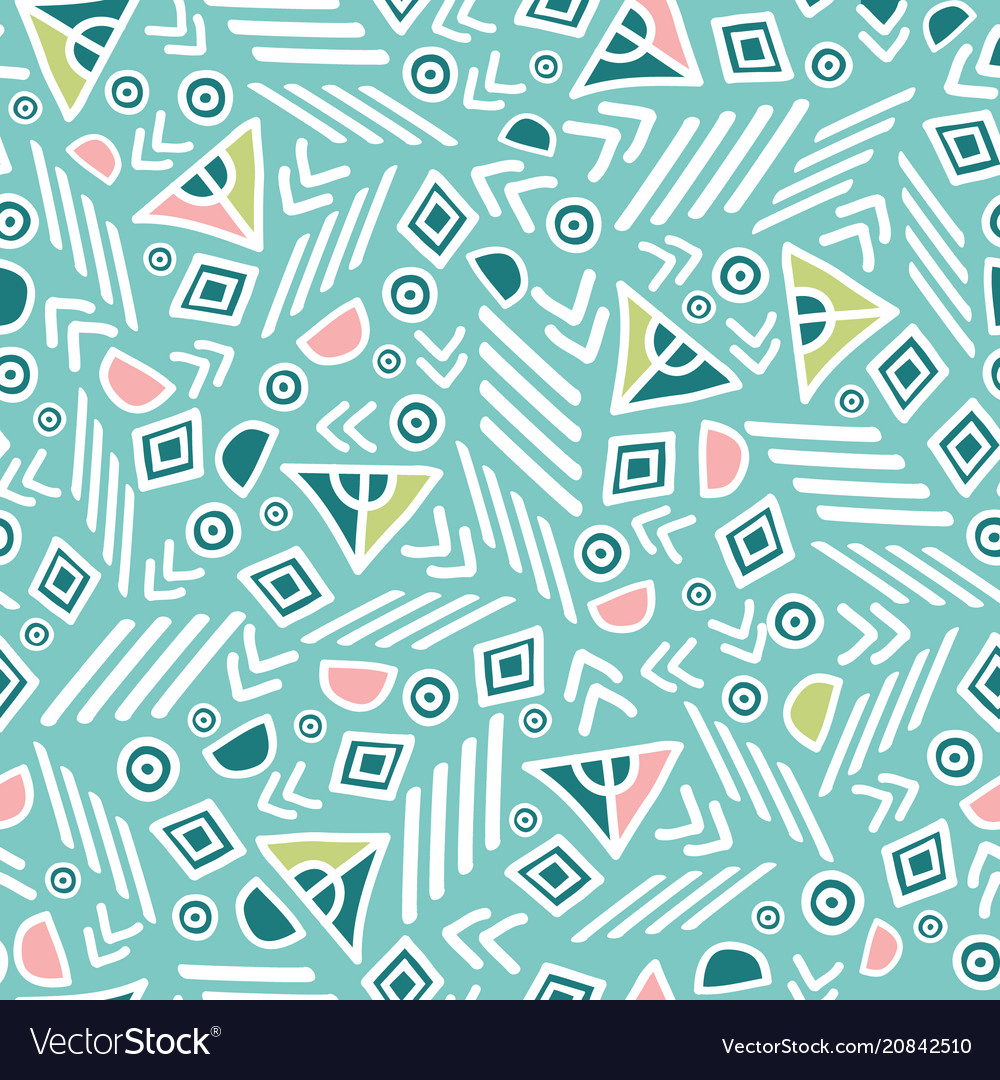 Pastel tribal abstract seamless repeat pattern