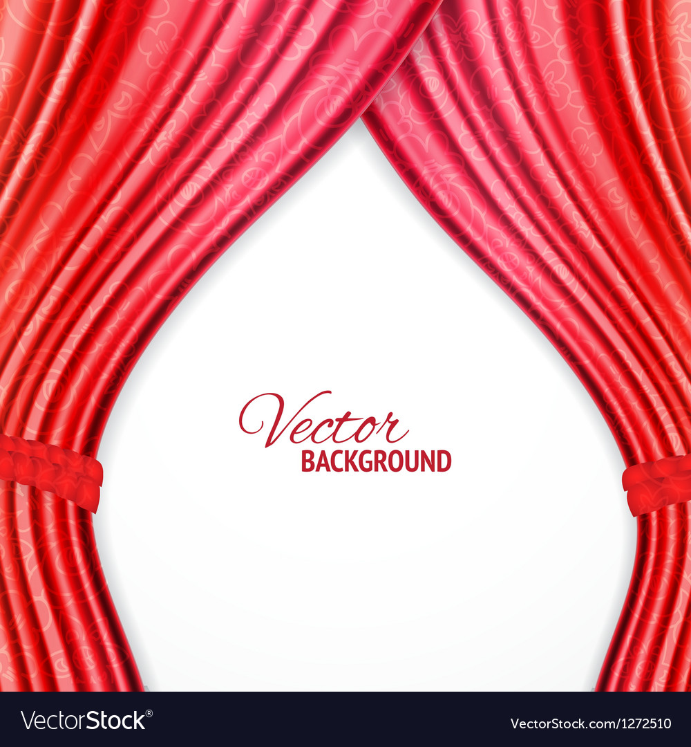 Red background with opera curtains vector image