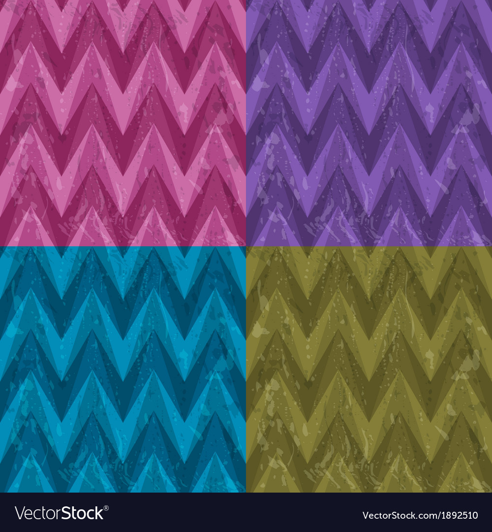 Set of Four Seamless Color Abstract Retro