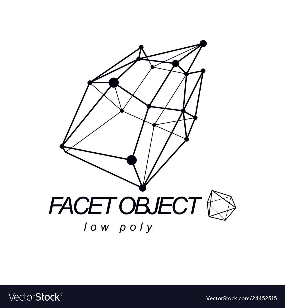 Abstract 3d polygonal wireframe object geometric