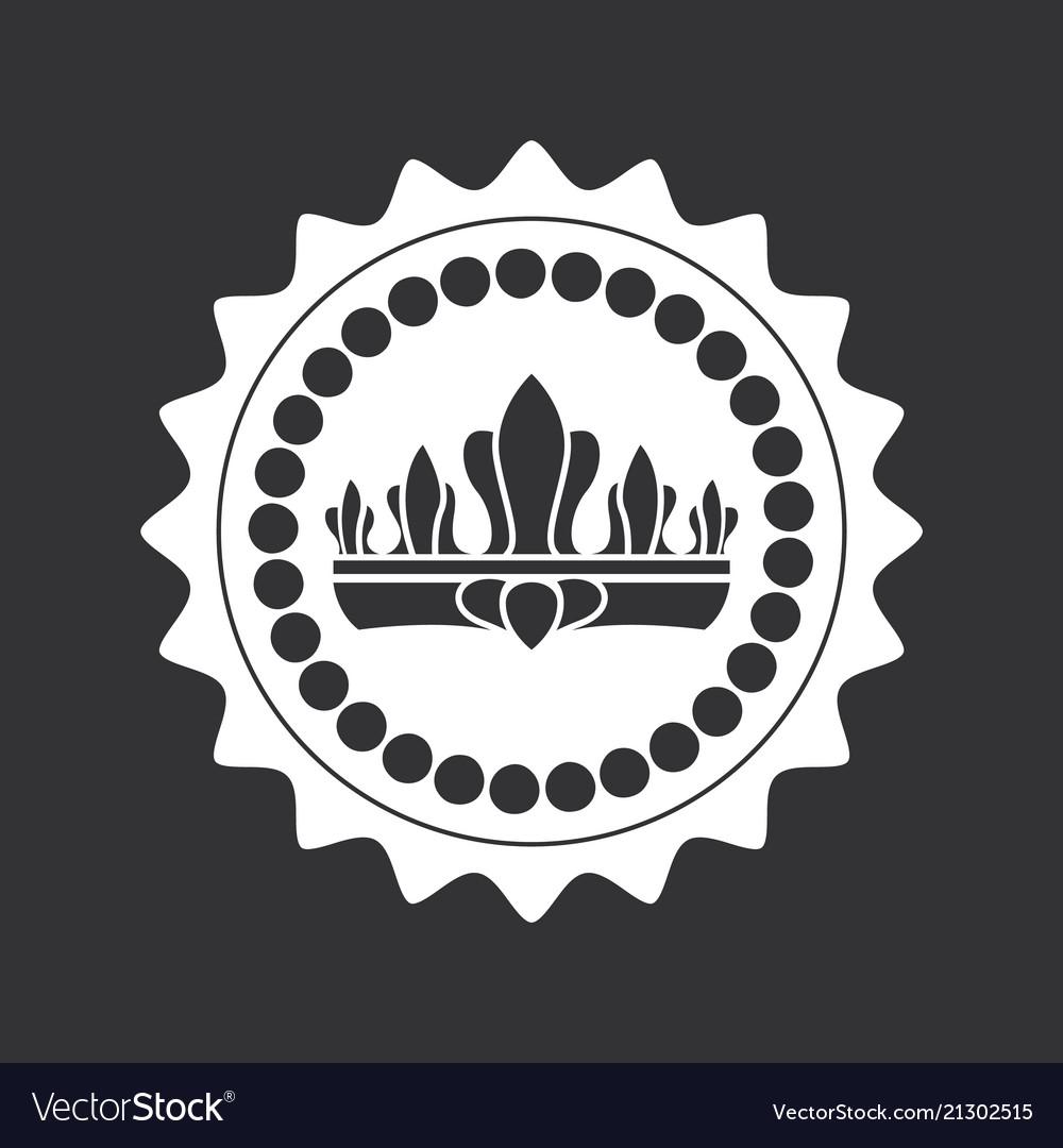 Kings crown inside circle monochrome logotype